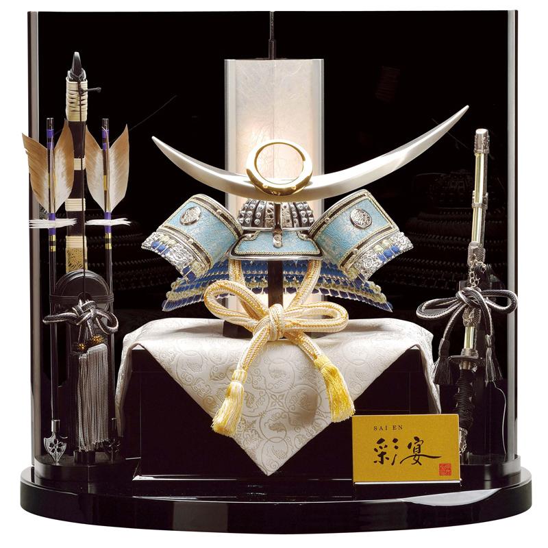 彩宴 兜飾り「10号 上杉・龍村裂の兜」