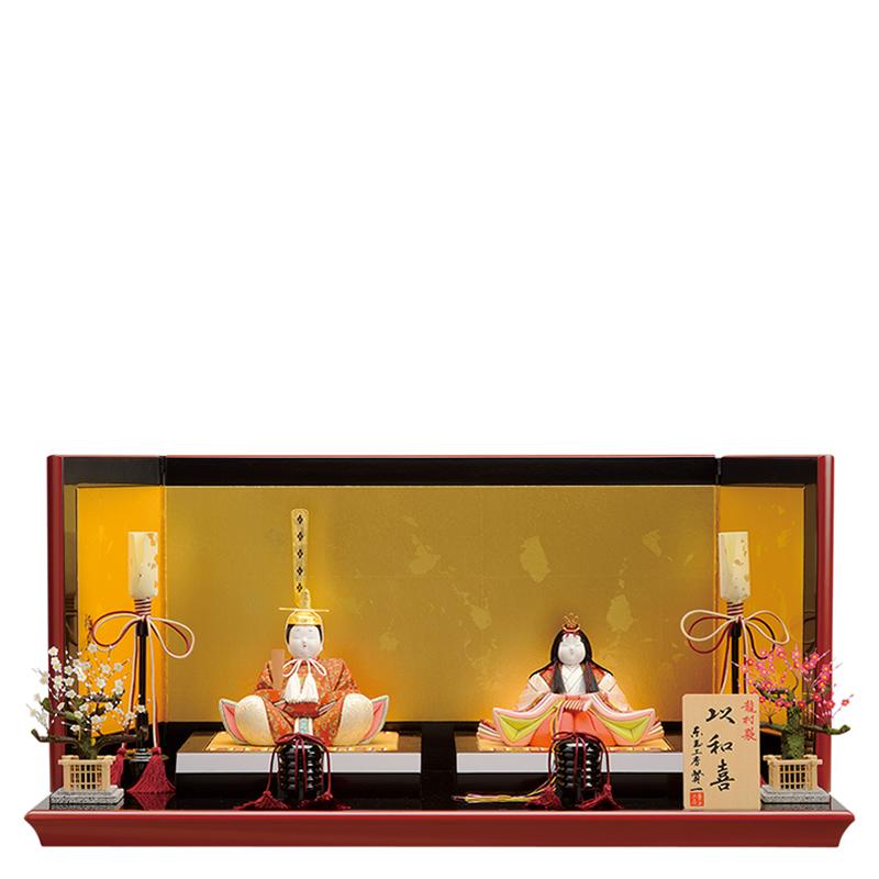 木目込人形 賢一 親王飾り「以和喜 龍村裂」