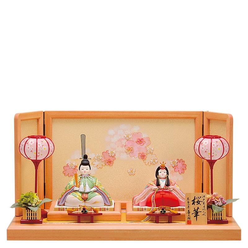 木目込人形 喜久絵 親王飾り「桜子」
