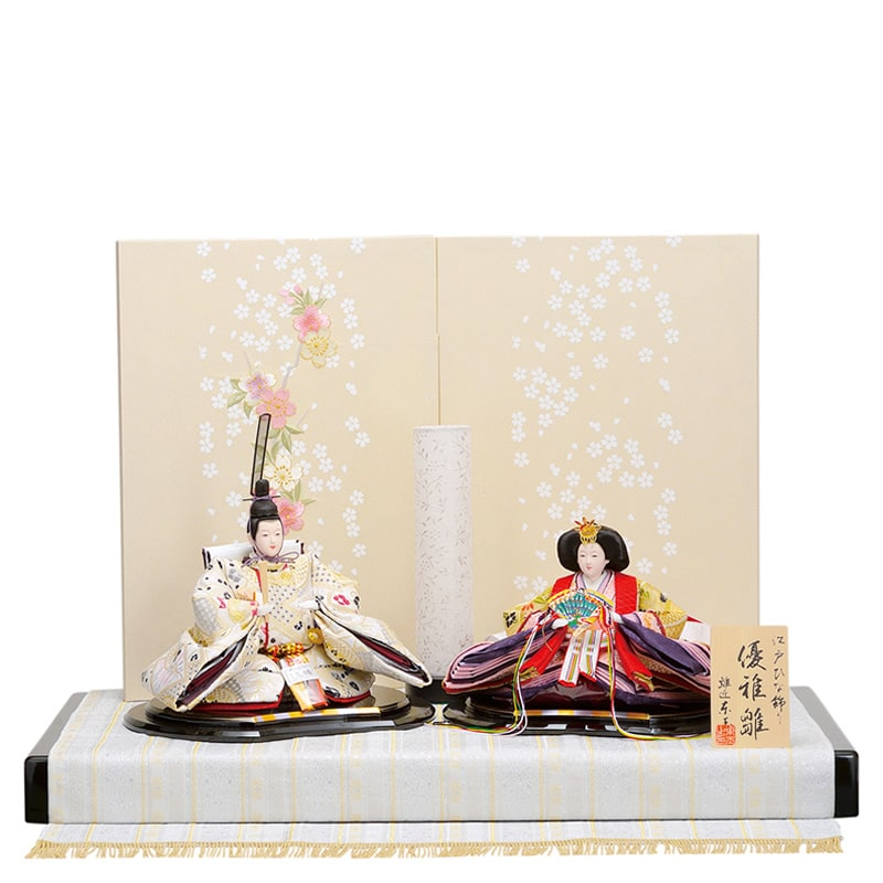 優雅 親王飾り「白夢桜」