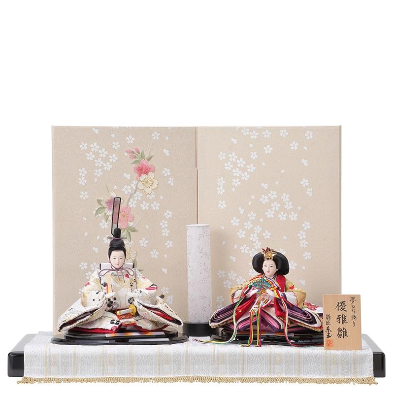 優雅 親王飾り「白夢桜mini」