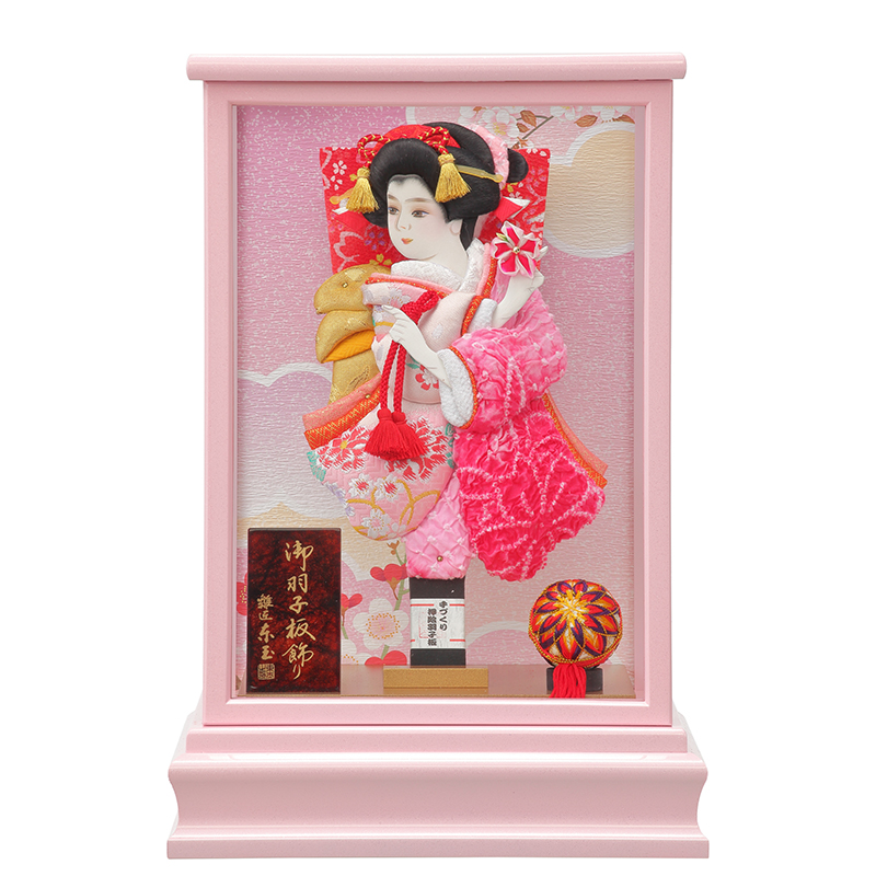 羽子板飾り「9号花振袖B/春の夢」