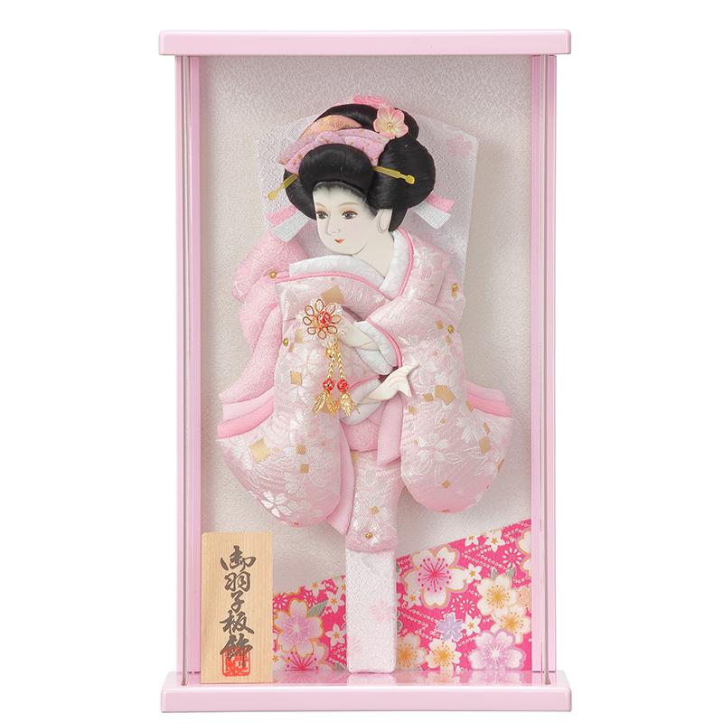 羽子板飾り「壁掛け:9号美月/ピンク」