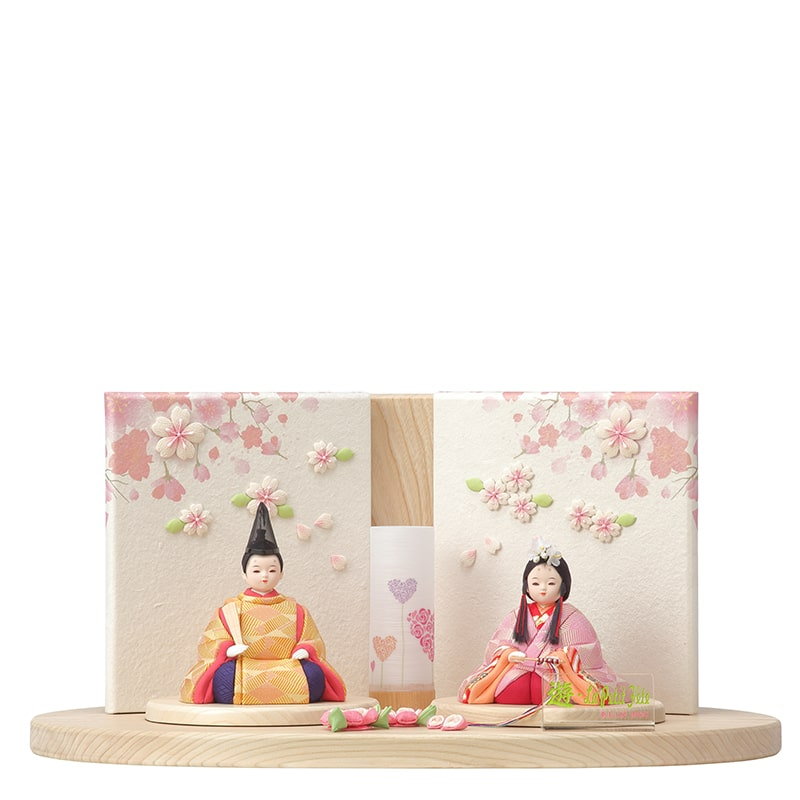 木目込人形 ゆかり 親王飾り「遊姫A」