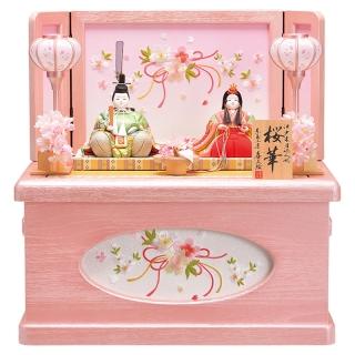 木目込人形 喜久絵 収納飾り「桜」