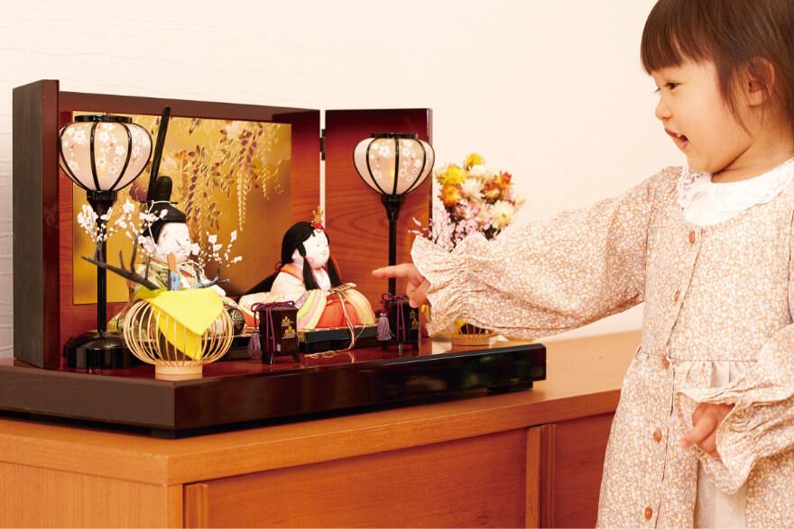 伝統的な木目込人形