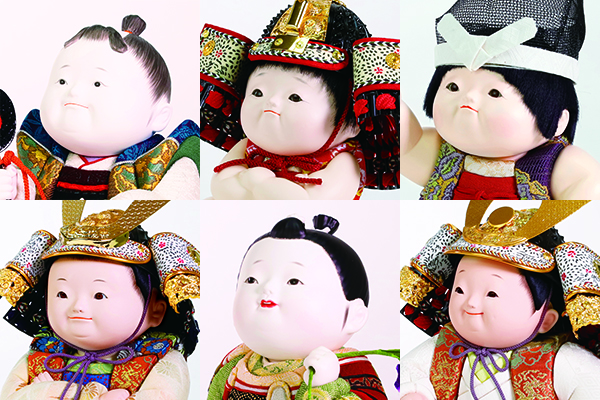 かわいいお顔の五月人形はお子様を見守る優しいお顔