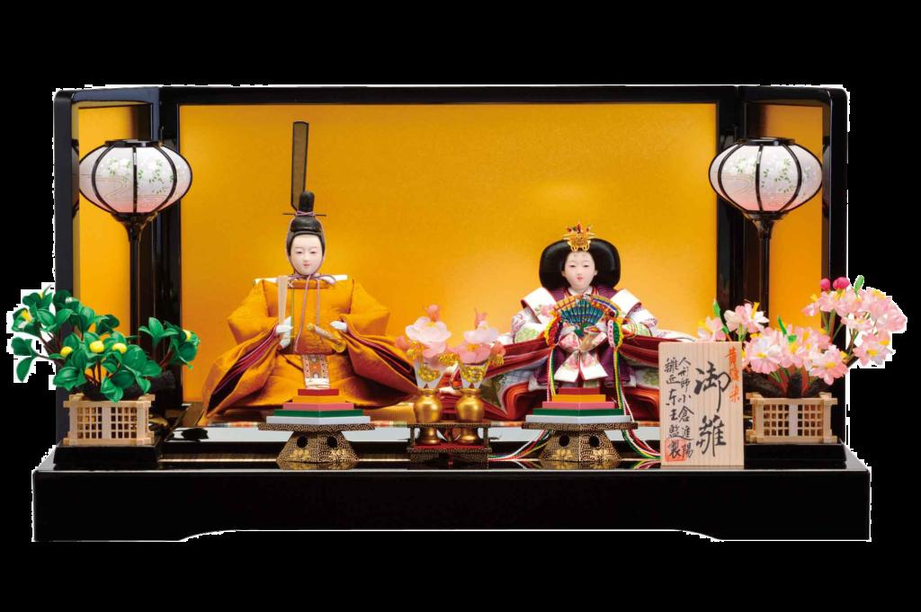男雛と女雛のお雛様「内裏雛(だいりびな)」は天皇皇后をお手本にした雛人形