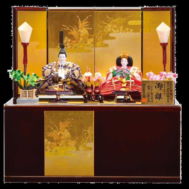 省スペースで「飾る」も「しまう」も簡単な収納飾りの雛人形
