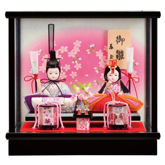 ケース飾り木目込雛人形:華福寿