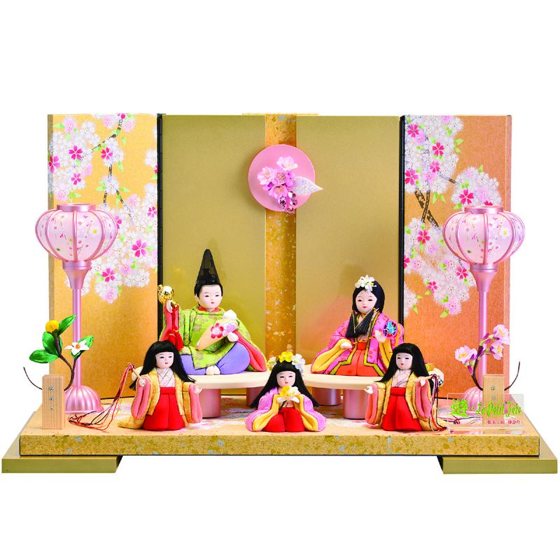 木目込人形 ゆかり 多人数飾り「遊燕・五人」