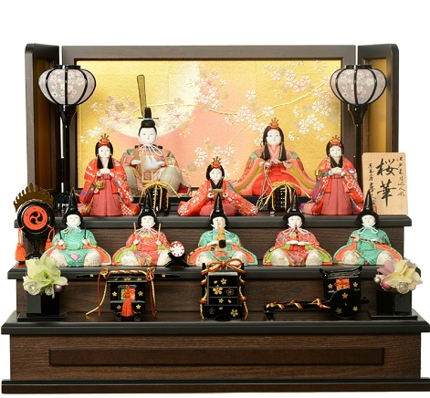 喜久絵の木目込人形 桜華No.1 十人飾り 都玖美