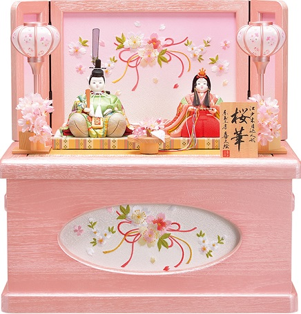 喜久絵の木目込人形 桜華No.1 桜 収納飾り