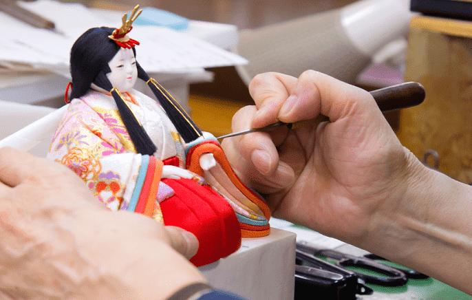 木目込み人形 製作工程