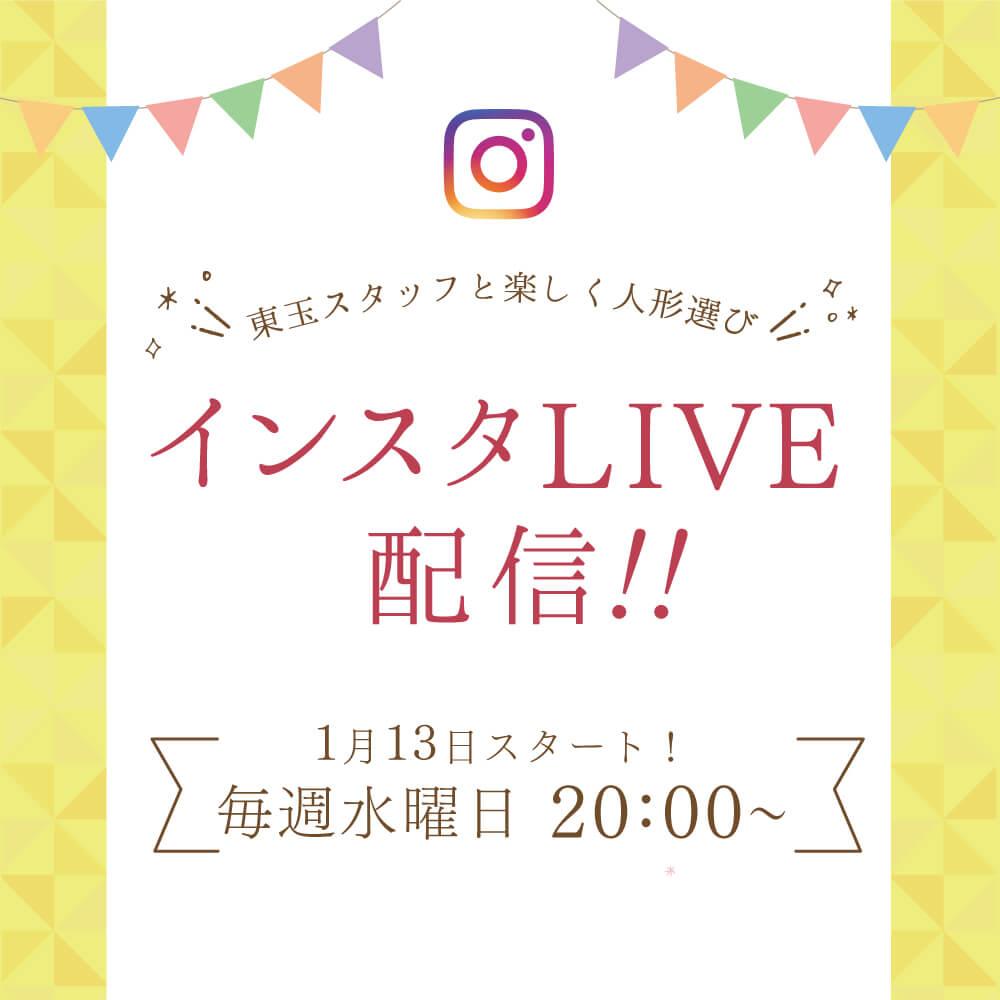 【告知】水曜日20時からインスタLIVE配信します!!